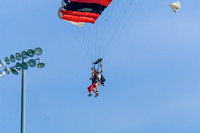 Skydive OBX deliver the ball for the first pitch