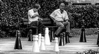 Chess match Baden-Baden