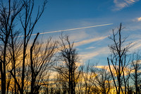 sunset and contrails 2